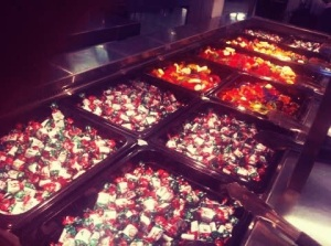 Christmas lollies. Who knew lollies were an essential part of a Christmas buffet!? This was a first for me!