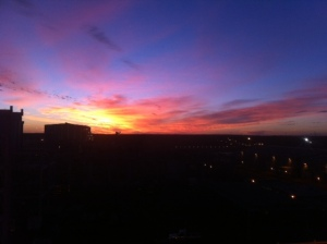 I will never cease to be amazed by beautiful sunsets like this one. One of the joys of night shift.