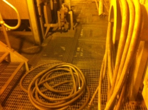 These are the hoses on site. Not your garden variety hose right?