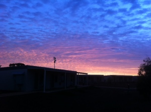 Home in time to catch a beautiful sunrise!